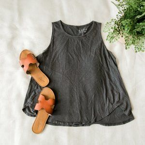 Simple Grey Swing Tank Top from The LOFT